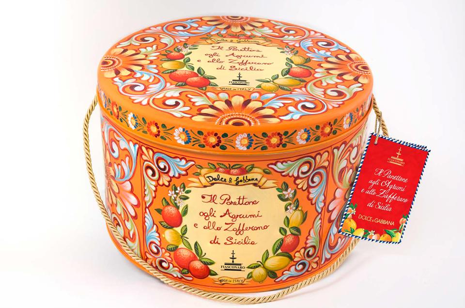 Panettone Fiasconaro agli Agrumi e Zafferano di Sicilia - Dolce&Gabbana (confezione)