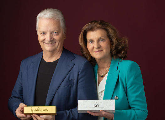 Iginio Massari e moglie